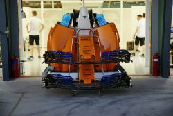 Outside the McLaren garage Pic by David Dymock