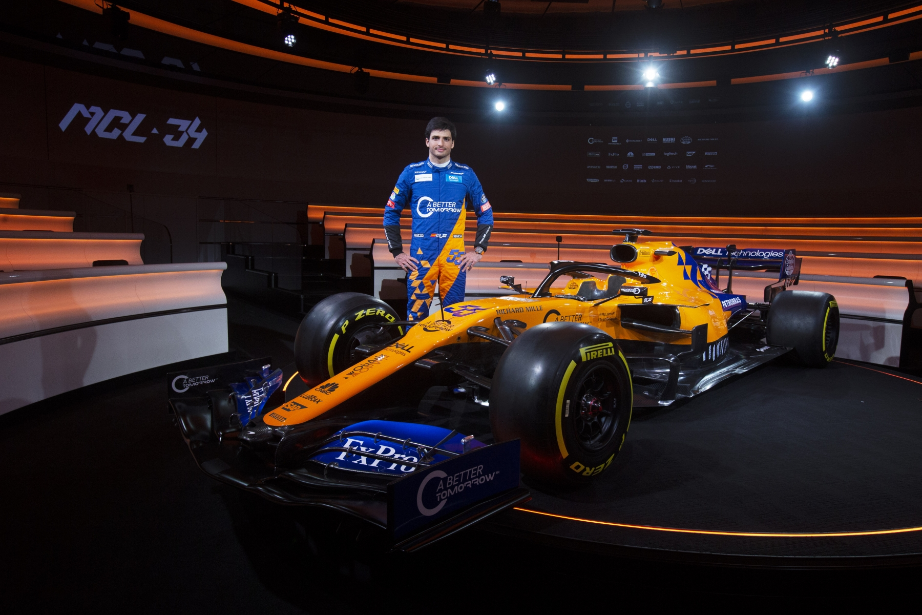 CarlosSainz_MCL34_Launch