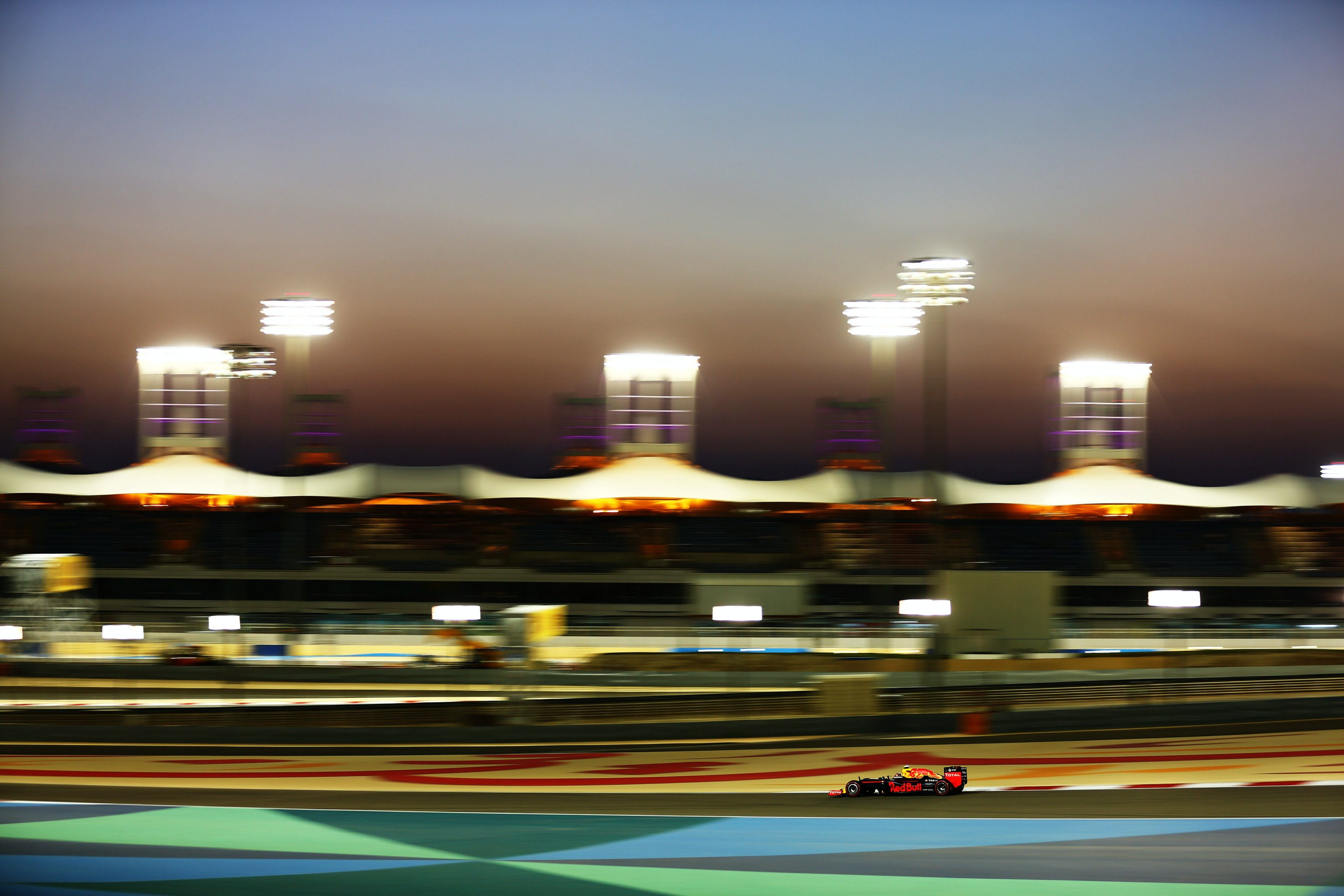 Daniil Kvyat on track at the 2016 Bahrain GP qualifying session