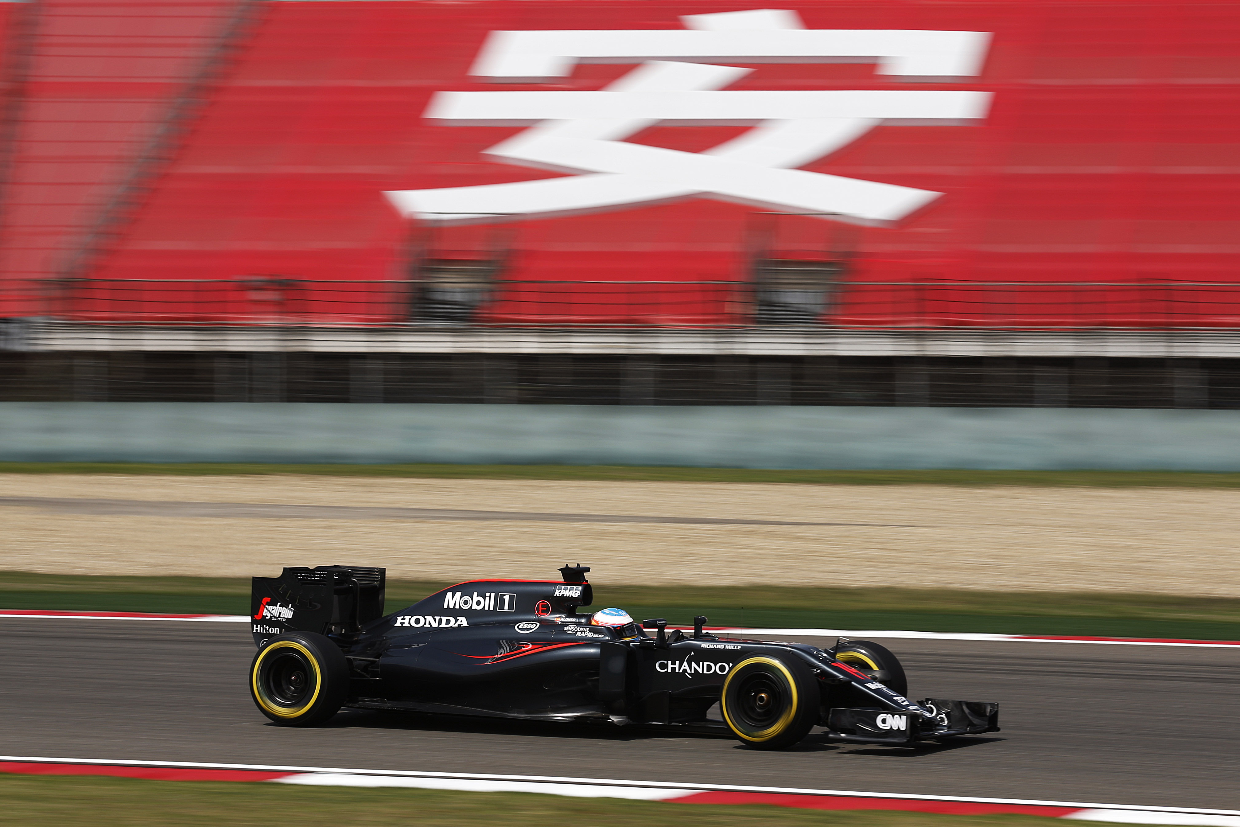 Fernando Alonso on Track before the Chinese Grand Prix