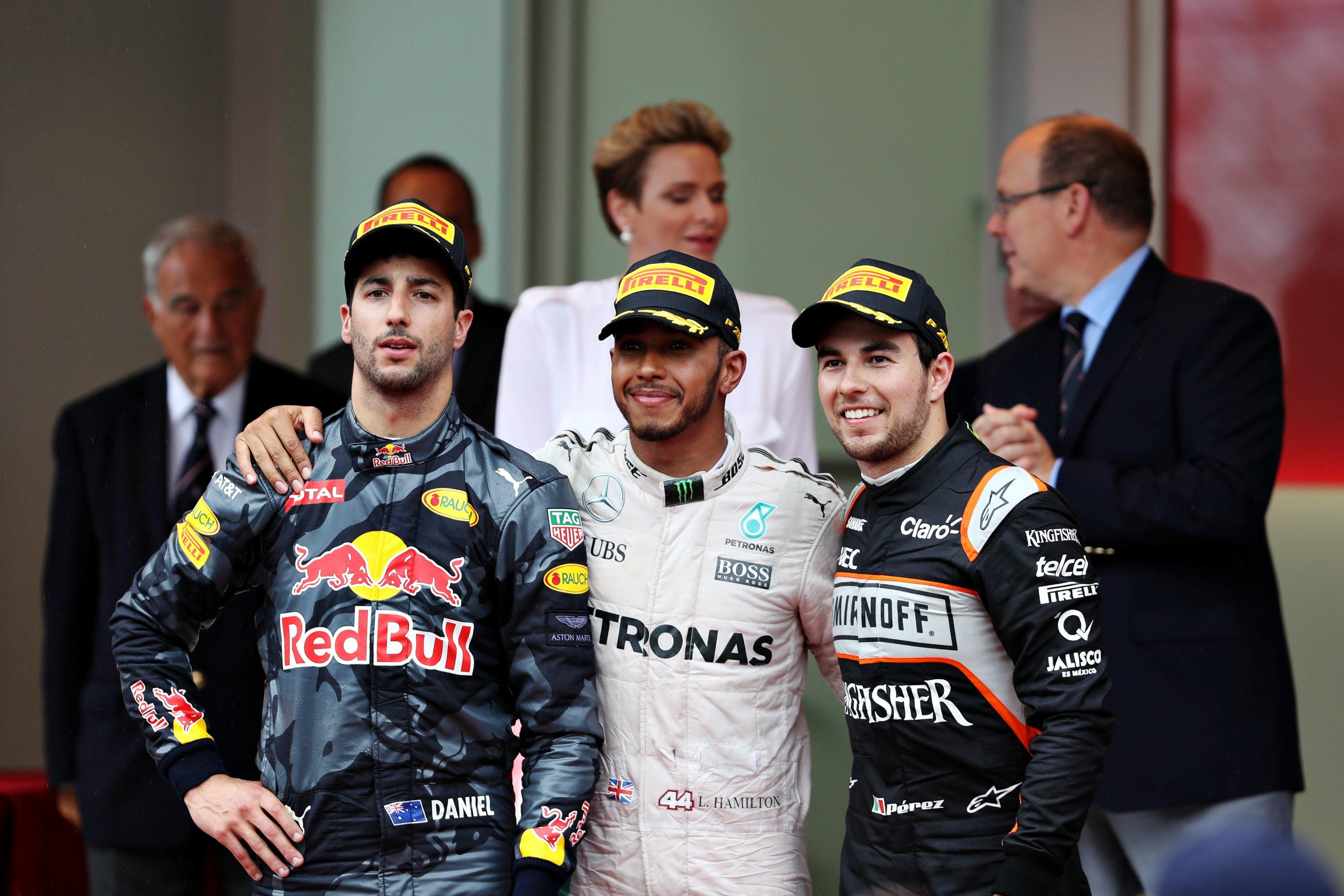 2016 Monaco Grand Prix Podium