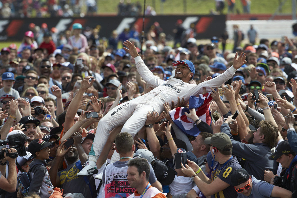 Lewis Hamilton after winning the 2016 British Grand Prix