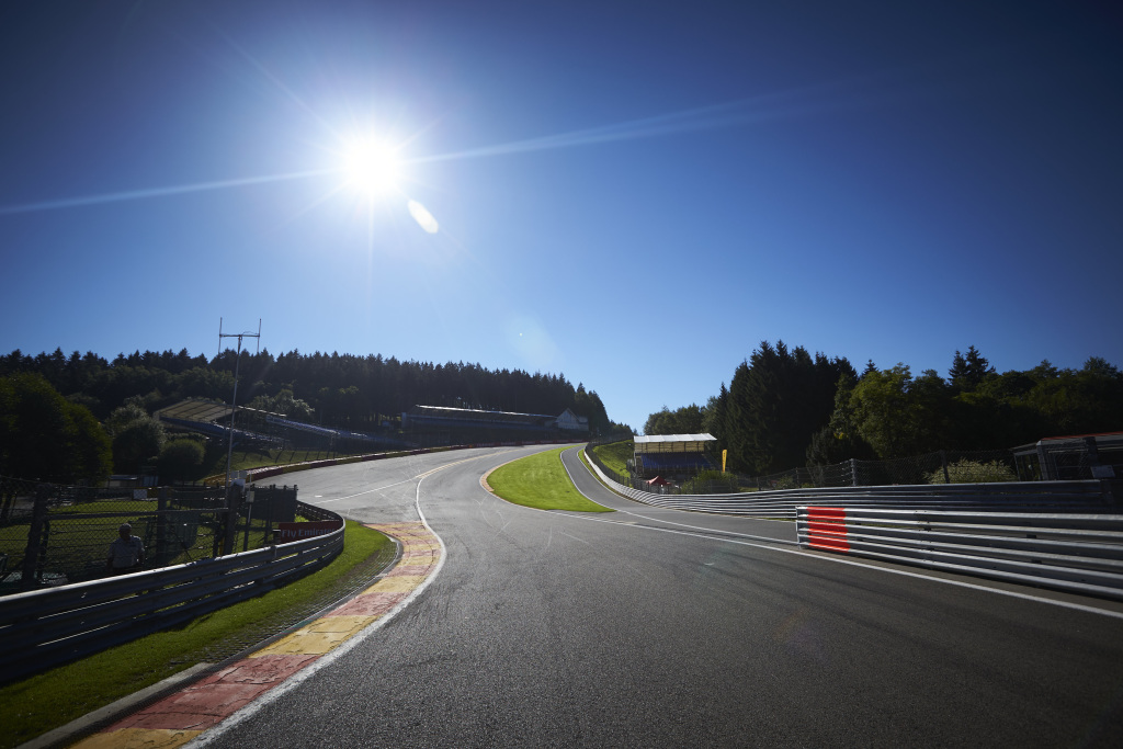 The famous Eau Rouge corner at Spa Francochamps