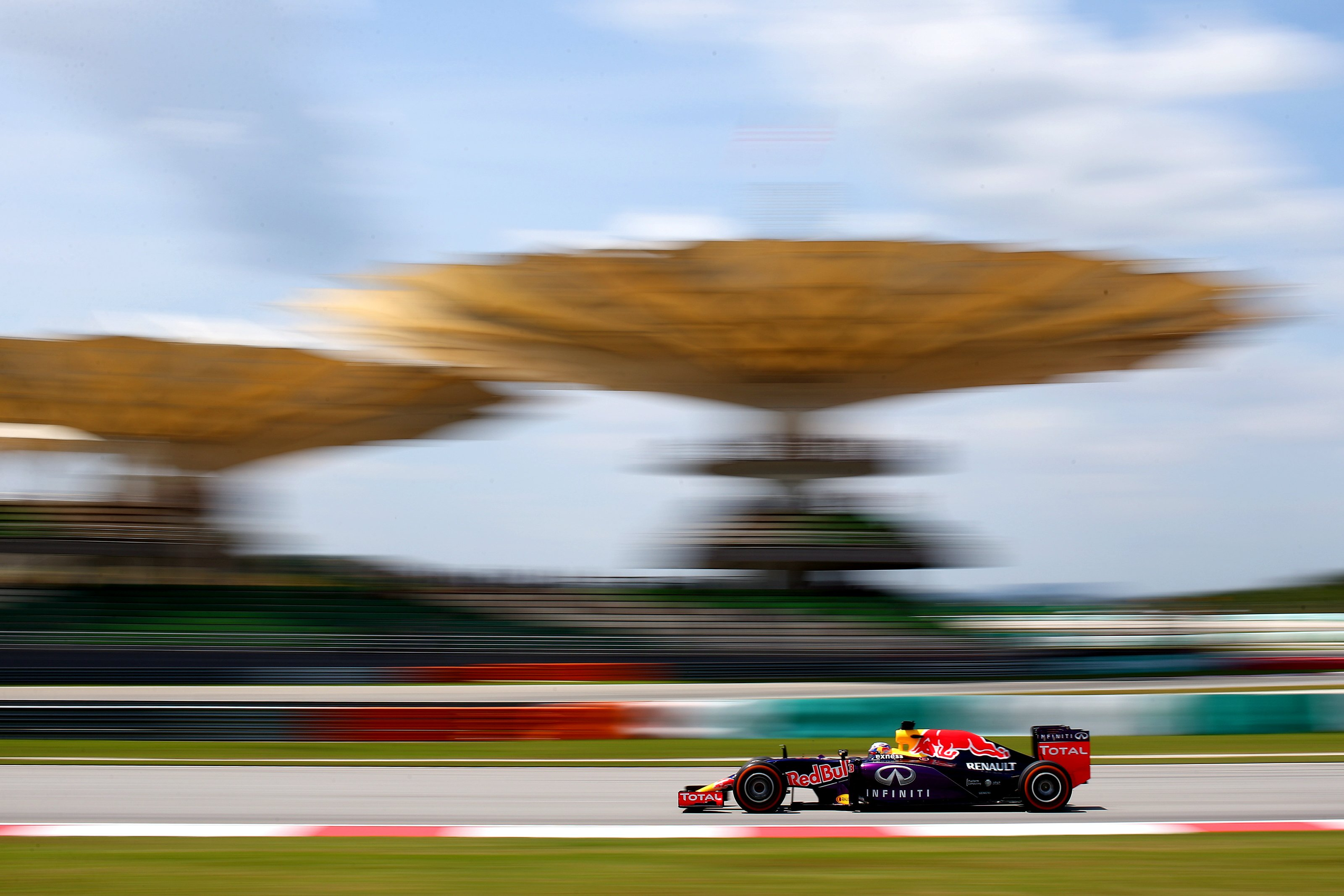 Daniel Ricciardo of RedBull at the Sepang Circuit for the Malaysian GP