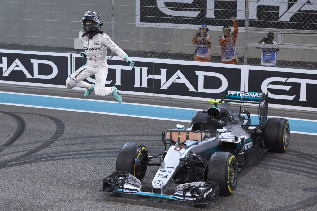 Nico Rosberg after securing the 2016 World Driver's Championship