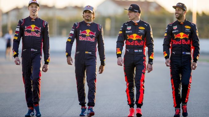 The full RedBull squad