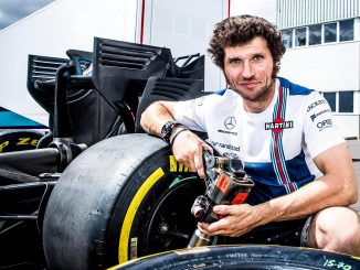 Guy Martin with Williams at the 2017 Belgian Grand Prix