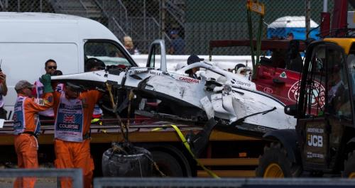 What was left of Marcus Ericsson's Sauber after he missed his DRS button - Pic by Ryan Kenna