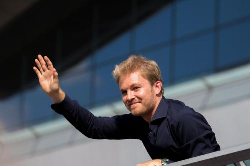 Nico waves to the crowd (again) - Pic by Ryan Kenna